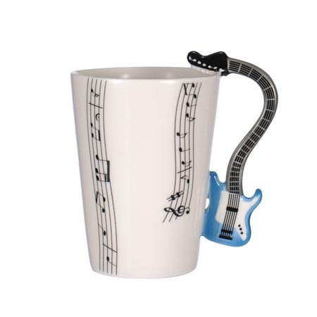 Best Quality - Mugs - Creative Music Violin Style Guitar Ceramic Mug Coffee Tea Milk Stave Cups with Handle Coffee Mug Novelty Gifts - by ABYSTEPS - 1 ()