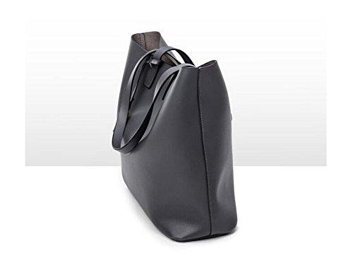 Negro Bolso Simple Bolso De Moda Gray Cuero Microfibra Todd Meaeo Bolso wTPqUwza