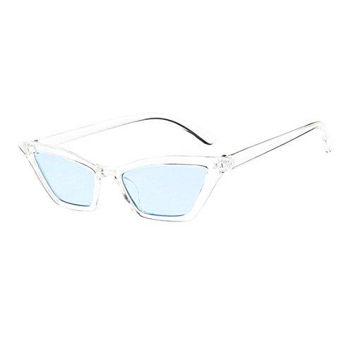 Mode Petit chat UV400 de Frame Classique Lens Bleu soleil de Vintage Lunettes Rétro Deylaying Miroir Solaires Clear Lunettes Œil 7RqXwX