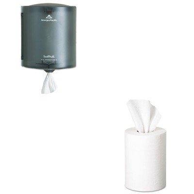 KITGEP28125GEP58204 - Value Kit - Georgia Pacific Premium Jr. Cap. Center-Pull Towel (GEP28125) and Georgia-Pacific SofPull 58204 Translucent Smoke Regular Capacity Centerpull Paper Towel Dispenser ()