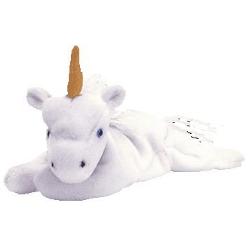 4b712ede1ee Image Unavailable. Image not available for. Color  TY Beanie Baby - MYSTIC  the Unicorn (tan horn   yarn or furry mane)