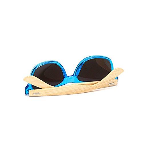 Huicai madera con Horn Classic de de Rimmed bambú templos C11 sol Gafas de rrZOwa