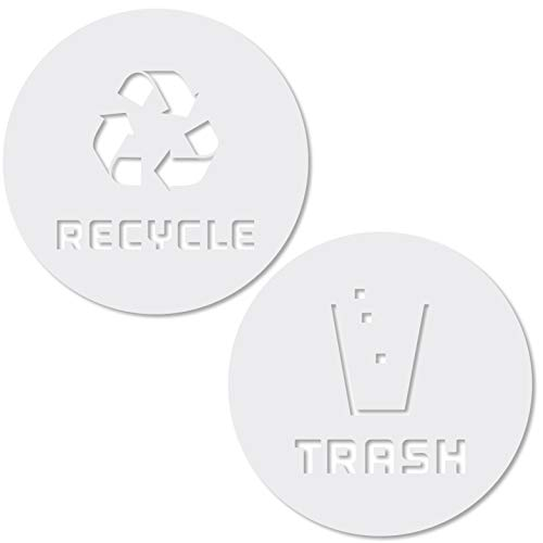 Container Decal - Recycle and Trash Sticker Vinyl Modern Logo (2.75