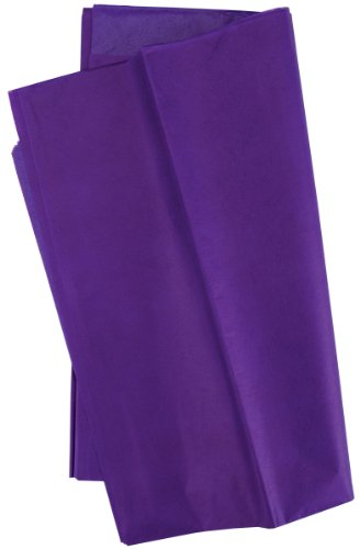 Cindus Tissue Wrap, 20 by 20-Inch, Purple 10/Pkg