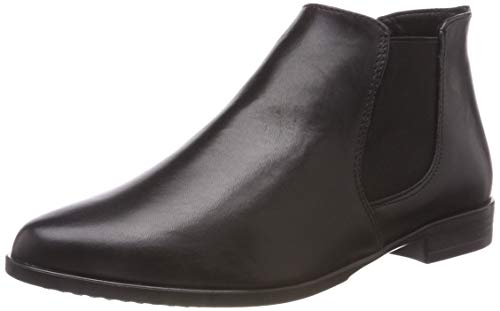 3 Negro 21 Chelsea Para Tamaris black Leather 25097 Mujer Botas z1YFq