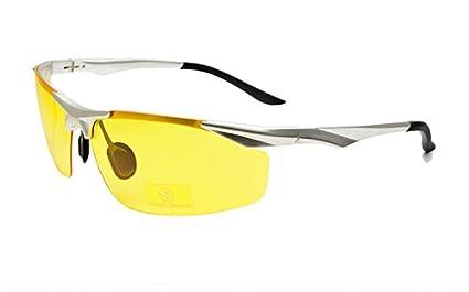 2d0f96708f Image Unavailable. Image not available for. Colour  BuyWorld Super Light  Aluminum Magnesium Frame Polarized Sunglasses Men Semi-Rimless ...