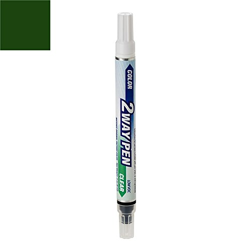 ExpressPaint 2WayPen BMW 8 Automotive Touch-up Paint - Oxford Green Pearl Metallic Clearcoat 324 - Color + Clearcoat Only