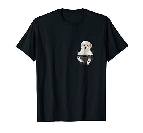 Maltese Inside Pocket Funny T-Shirt Lover Dog Cute Gift - Womens Maltese