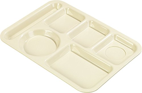 Carlisle P61425 Polypropylene Left-Hand 6-Compartment Divided Tray, 14
