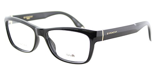 Givenchy GV 0003 D28 Black Plastic Rectangle Eyeglasses 52mm