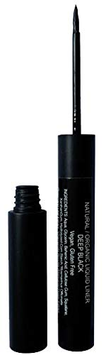 Mom's Secret 100% Natural Liquid Eyeliner Black, Organic, Vegan, Made in the USA, 0.21 oz. (Best Natural Organic Eyeliner)