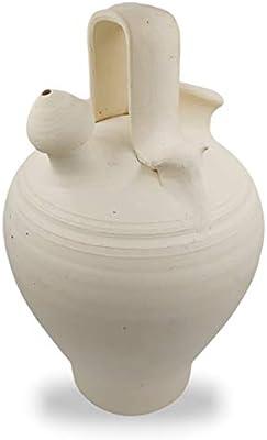 B/úcaros de Barro Hecho a Mano en Espa/ña 32x18x18 cms Botijo de Barro Botijos de Agua Toro del Oro