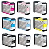 Zoomtoner New Compatible EPSON T58 INK / INKJET Cartridge Set Photo Black Cyan Yellow Magenta Light Cyan Light Magenta Light Black Matte Black Light Light Black