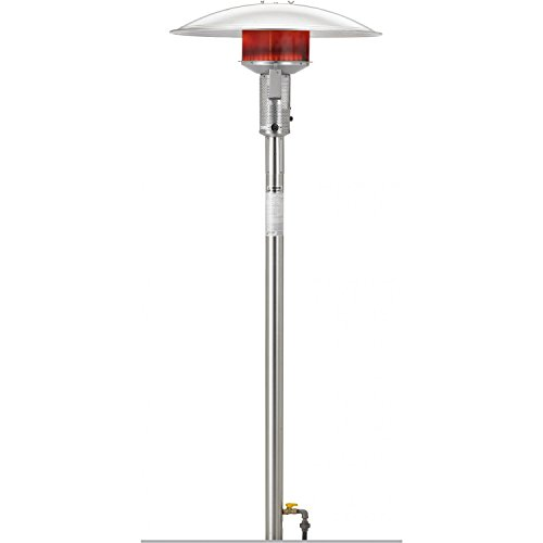 Sunglo 50000 Btu Natural Gas Post-mount Patio Heater With Standing Pilot - Stainless Steel - Psa265v Ss