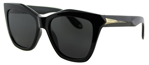 Givenchy 7008/S QOL Black 7008/S Square Sunglasses Lens Category 3 Size (Givenchy Black Sunglasses)