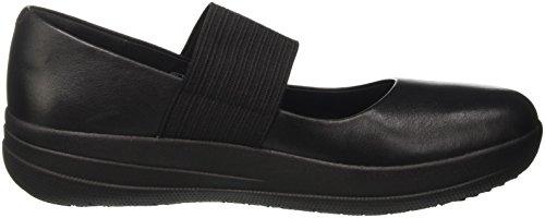 Fitflop Ladies F-sporty Mary Jane Low Shoes, Nero Nero (nero)