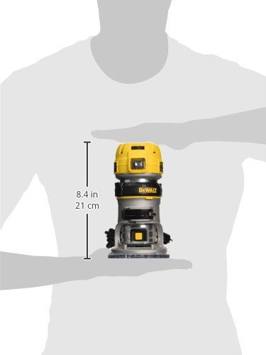 DEWALT DWP611 1.25 HP Max Torque Variable Speed Compact Router with Dual LEDs by DEWALT (Image #1)