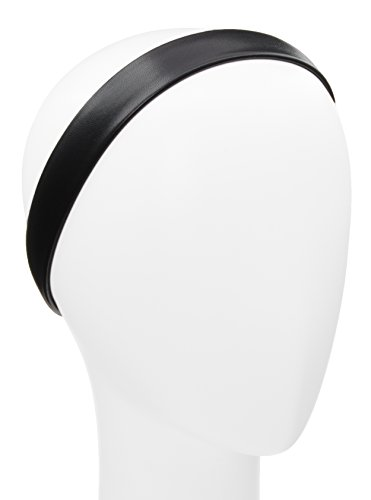L. Erickson Leather Derby Headwrap - Black - Genuine Leather Headwrap