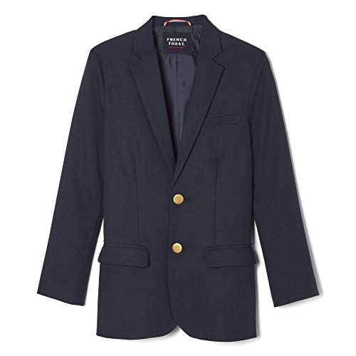 French Toast Boys' Big Girls' Classic School Blazer, Navy, 7