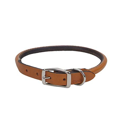 - Coastal Pet Products DCP120516TAN Leather Circle T Oak Tanned Round Dog Collar, 16 by 5/8-Inch, Tan