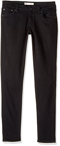 Levi's Big Girls' 710 Super Skinny Fit Classic Jeans, Solid Black, 16 (Black Jeans Girls)