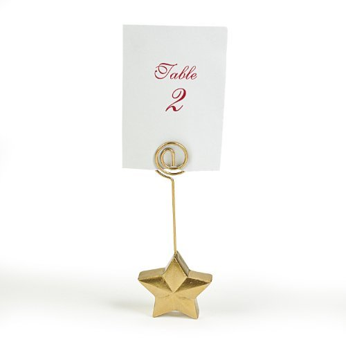 - Gold Star Place Card Holders (1 dz)