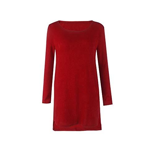 Bodycon Manga Shuchangle Casual Suéter Elástico Azul Para Fiesta Real Dress Vestido Larga De Mujer Cremallera Vestidos Algodón Rojo Invierno Suéterelegante Con Mini rRP8axr