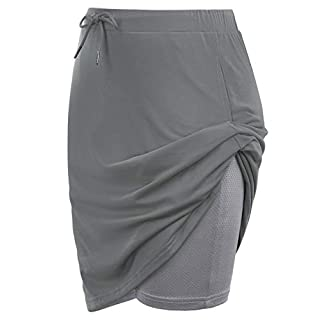 JACK SMITH Women's Plus Size Skort Lightweight Skirt for Workout Sports(2XL,Grey)