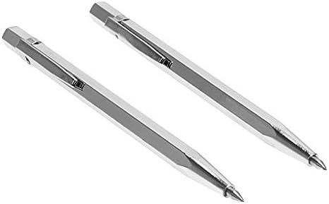 Whitelotous 2pcs//set Tungsten Carbide Tip Scriber Etching Pen Carve Jewelry Engraver Metal Tool