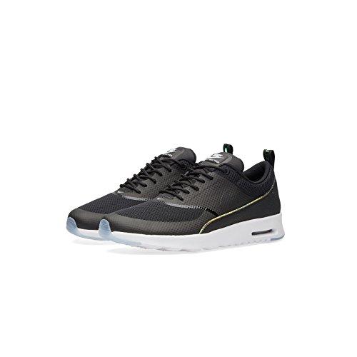Nike Womens Wmns Air Max Thea Prm, BLACK/BLACK-BLUE TINT, 9 US