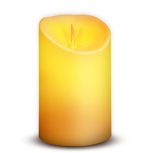Novelty Place Flickering LED Candles, Lifelike Swinging Flame Battery Powered Realistic Flameless LED Candle - Warm White