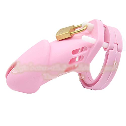 SCGOLD Saft CB6000 Silicone Male Chastity Device Chastity Cage Sex Toys for Men Sex Products Pink by SCGOLD