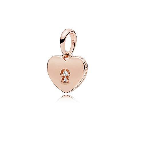Pandora Rose Shimmering Keyhole Pendant 387687CZ ()