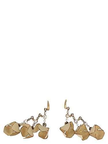 Marni Women's Ormv0106a0t200000w20 Beige Metallic Fibers Earrings