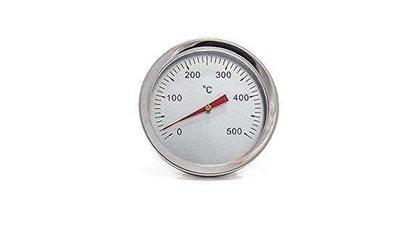 20 Term/ómetro para Horno de le/ña Escala de 0 a 500/ºC con Vaina de 20,30 o 50 cm