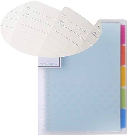 Creativo port/átil cl/ásico Ruled Diario hojas sueltas Cuaderno del diario del cuaderno para ni/ños y ni/ñas RUCP11Y A5 Tipo azul 1pc