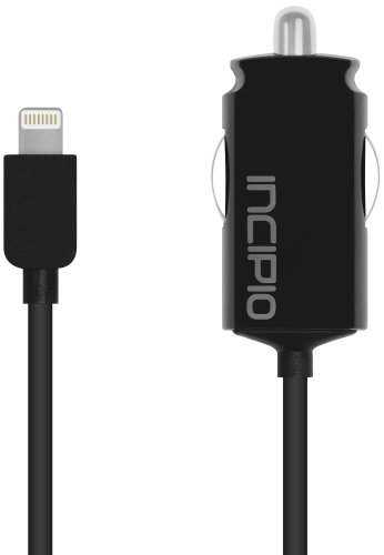 Incipio Ultra Compact Auto Charger - 1A Lightning Captive Cable (IP-692)