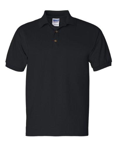Gildan Mens Button Down Polo Shirt