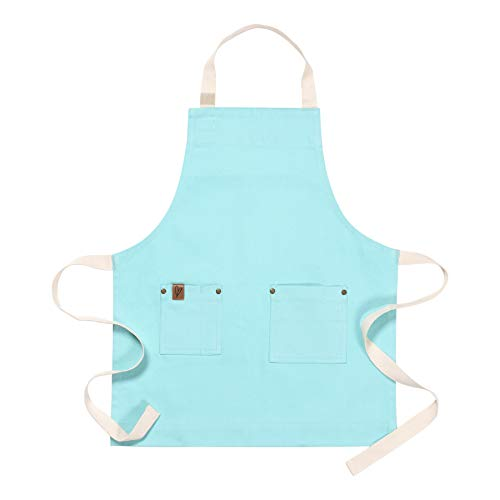 Ayesha Curry Chef & Hostess Kid Apron | Aqua | Perfect for Your Kitchen, Garden, The Art Room or Anywhere You Interact with Your ()