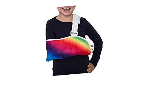(Crazy Casts Arm Sling for Kids - Childrens Arm Support Sling | Premium Designer Arm Slings for Kids for Broken Collarbone or Cast Cover | Small to Large Size for Boys Girls Youth Ages 4+)