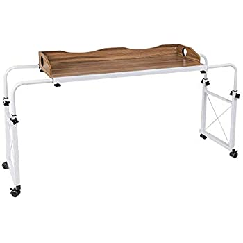 Amazon Com Overbed Table With Wheels Tribesigns 70 8