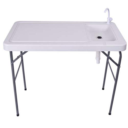 - PNPGlobal Folding Portable Fish Table Hunting Cleaning Cutting Camping Sink Faucet