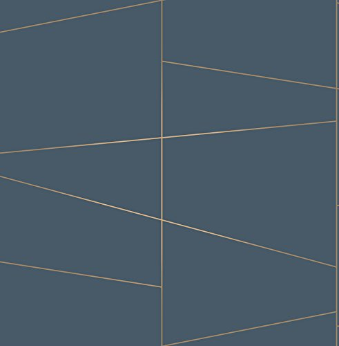 Brewster UW24789 Fairmont Deco Fracture Wallpaper, Blue