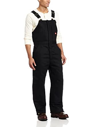 Dickies Men's Insulated Bib Overall, Black, Small