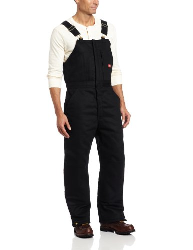 Dickies Men's Insulated Bib Overall, Black, Extra Large-Regular