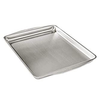 Image of All-Clad 9005 9000 D3 Ovenware 12x15 Inch Jelly Roll, Stainless Steel, 12 by 15-Inch