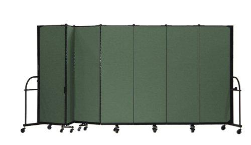 13 Panel Room Dividers - Screenflex Heavy Duty Portable Room Divider (HFSL607-DN) 6 Feet High by 13 Feet 1 Inches Long, Designer Mallard Fabric