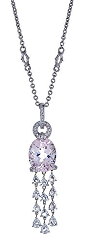 NA Judith Ripka 18K White Gold Kunzite & Diamond - Necklace White Kunzite