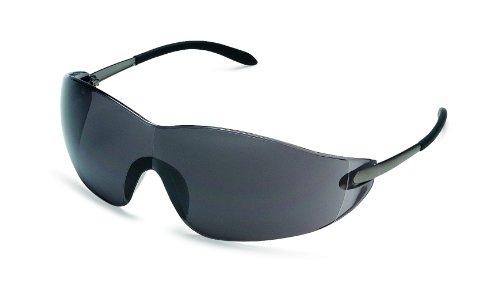 Grey Chrome Lens - MCR S2112 Crews Blackjack Safety Glasses Chrome Frame Grey Lens 1 Pair