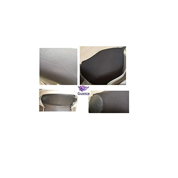 Guance Waterproof Black Mesh Net Seat Cover with Cushion Sweat Free Seat Cover for TVS Jupiter Grande